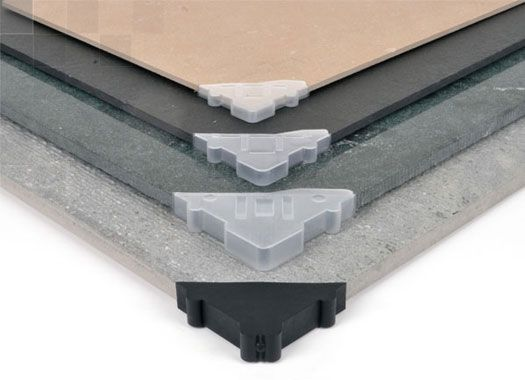 corner protector for giant porcelain panels
