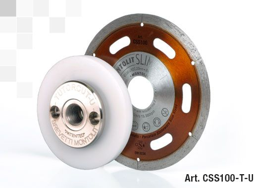 slim diamond blade for porcelain panels with universal guide for grinder